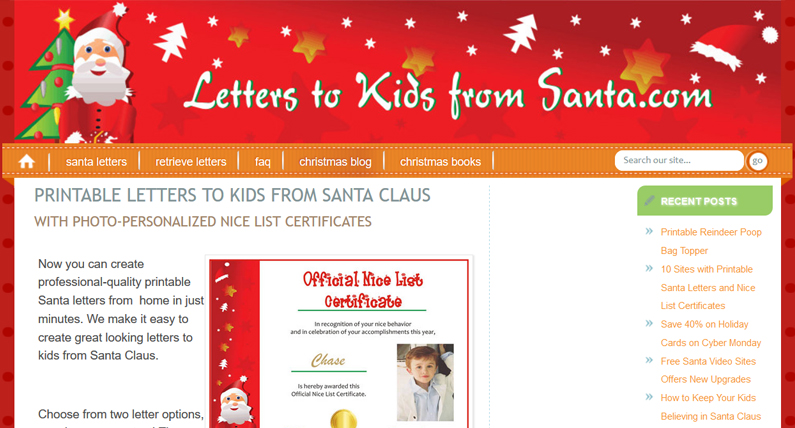 Letters to Kids From Santa